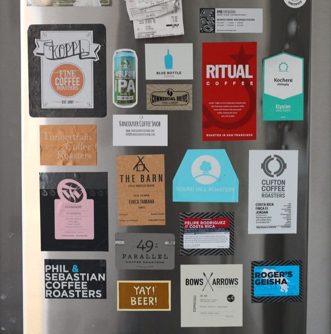 Magnetic Coffee Bag Labels