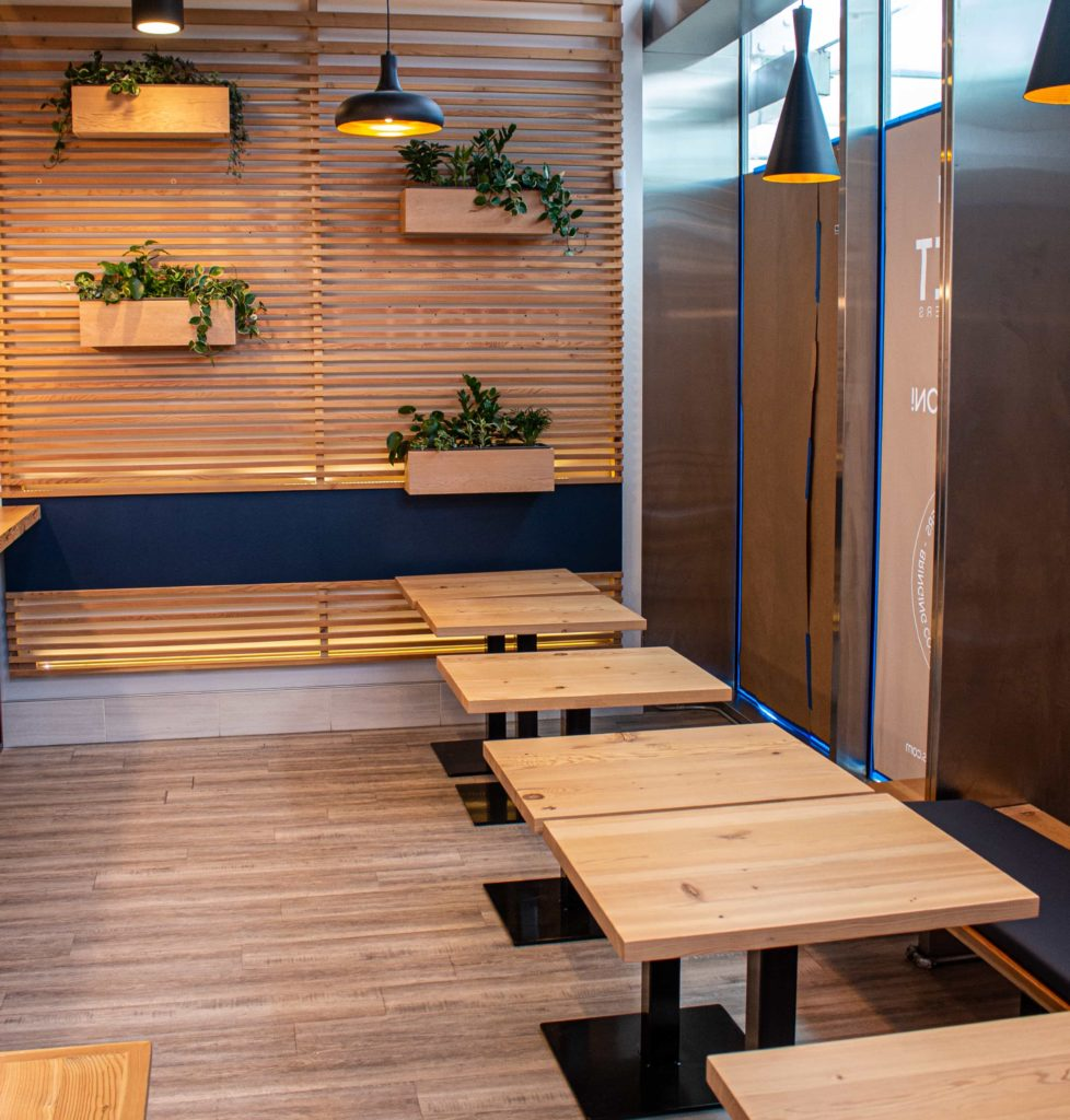 Tables at Pallet Howe
